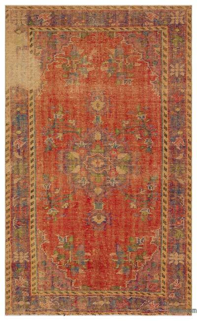"""Turkish Vintage Area Rug - 4'11"""" x 8'1"""" (59 in. x 97 in.)"""