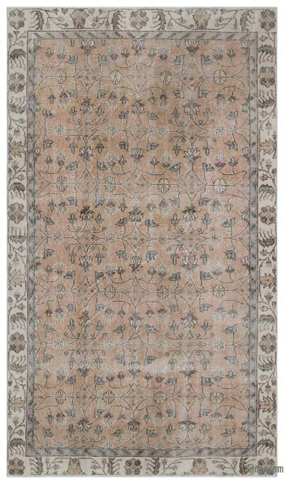 """Vintage Turkish Hand-Knotted Rug - 5' 3"""" x 9' 1"""" (63 in. x 109 in.)"""