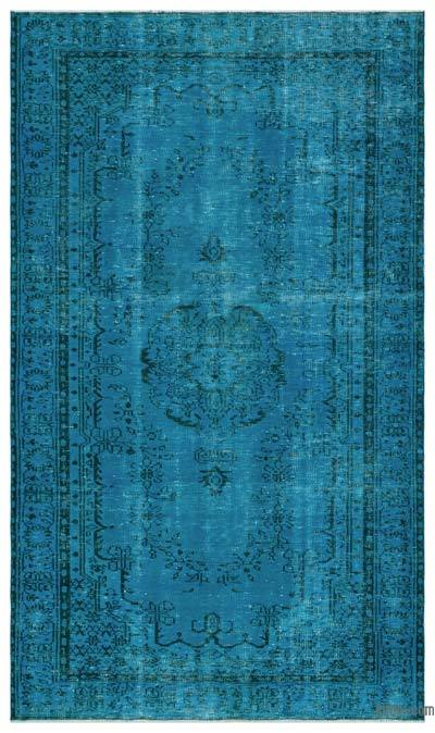 Boyalı El Dokuma Vintage Halı - 161 cm x 274 cm