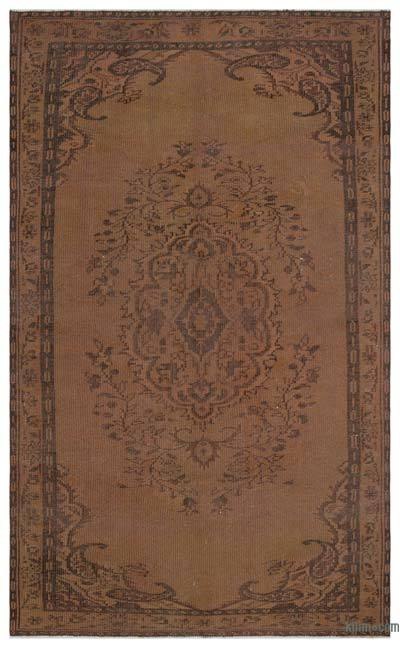 """Over-dyed Turkish Vintage Rug - 5' 2"""" x 8' 7"""" (62 in. x 103 in.)"""