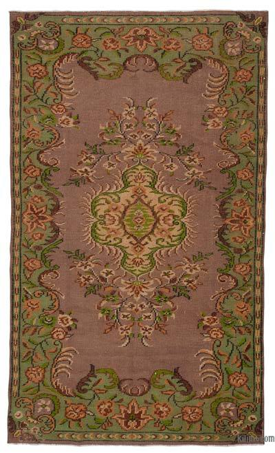 """Turkish Vintage Area Rug - 4'11"""" x 8'4"""" (59 in. x 100 in.)"""