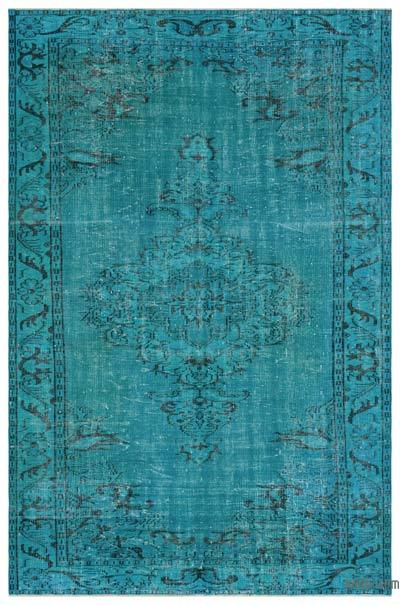 """Over-dyed Turkish Vintage Rug - 6'1"""" x 8'11"""" (73 in. x 107 in.)"""