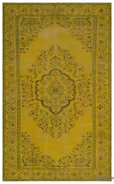 Boyalı El Dokuma Vintage Halı - 175 cm x 286 cm