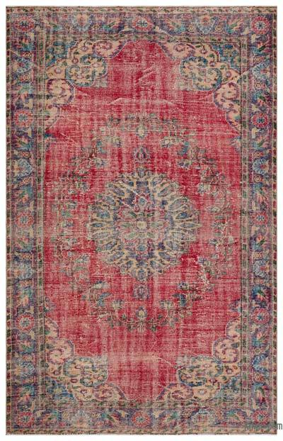 """Turkish Vintage Area Rug - 6'  x 9' 6"""" (72 in. x 114 in.)"""