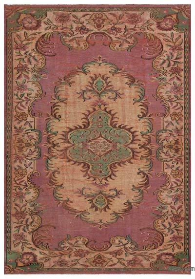 "Turkish Vintage Area Rug - 6'6"" x 9'4"" (78 in. x 112 in.)"