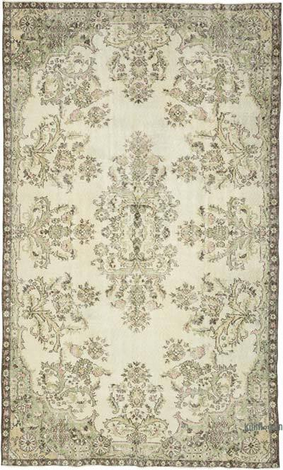 """Turkish Vintage Area Rug - 6' 3"""" x 10' 4"""" (75 in. x 124 in.)"""