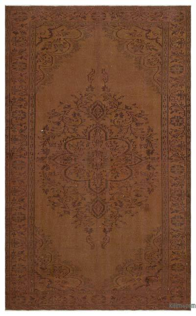 """Over-dyed Turkish Vintage Rug - 5' 1"""" x 8' 4"""" (61 in. x 100 in.)"""