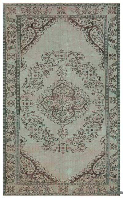 "Over-dyed Turkish Vintage Rug - 5' 7"" x 9'  (67 in. x 108 in.)"