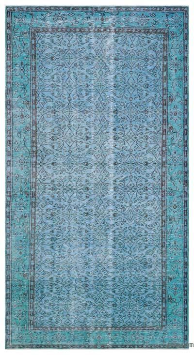 "Over-dyed Turkish Vintage Rug - 4' 9"" x 8' 8"" (57 in. x 104 in.)"