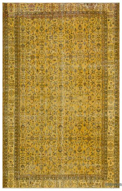 "Over-dyed Turkish Vintage Rug - 6'4"" x 9'11"" (76 in. x 119 in.)"
