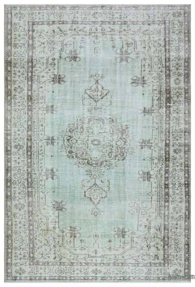 """Over-dyed Turkish Vintage Rug - 6'3"""" x 9'1"""" (75 in. x 109 in.)"""