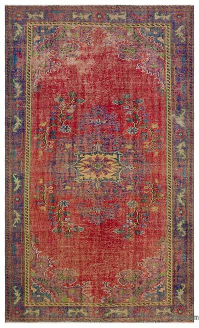 "Turkish Vintage Area Rug - 5' 3"" x 8' 8"" (63 in. x 104 in.)"