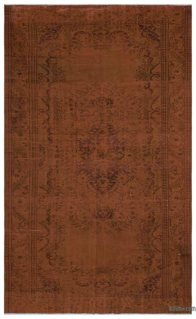 "Over-dyed Turkish Vintage Rug - 6' 1"" x 10' 2"" (73 in. x 122 in.)"