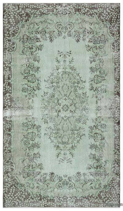 """Over-dyed Turkish Vintage Rug - 5' 6"""" x 9' 7"""" (66 in. x 115 in.)"""