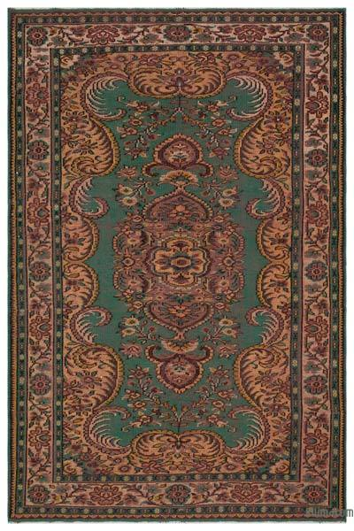 "Turkish Vintage Area Rug - 6'1"" x 9' (73 in. x 108 in.)"