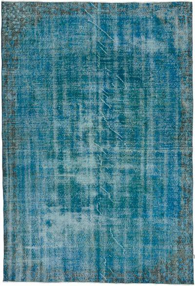 """Over-dyed Turkish Vintage Rug - 5' 11"""" x 8' 10"""" (71 in. x 106 in.)"""