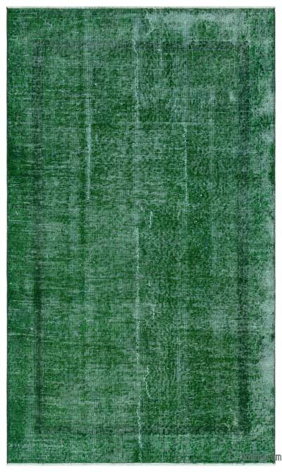 """Over-dyed Turkish Vintage Rug - 3'8"""" x 6'3"""" (44 in. x 75 in.)"""