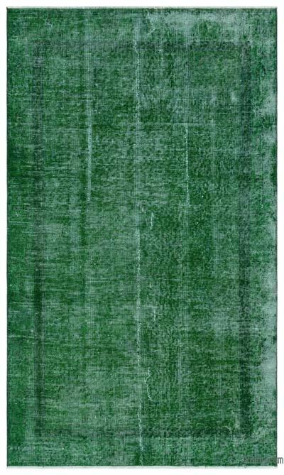 Boyalı El Dokuma Vintage Halı - 112 cm x 190 cm