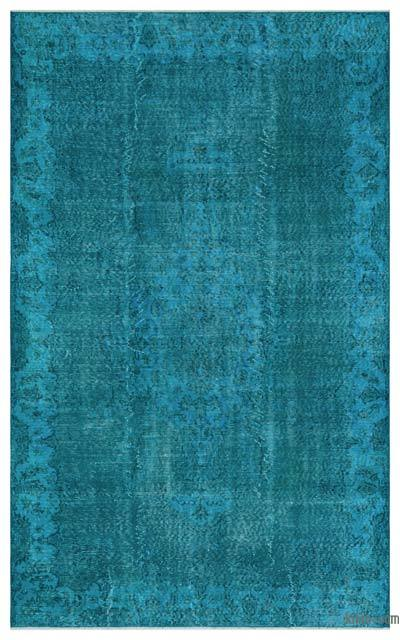 """Over-dyed Turkish Vintage Rug - 5' 5"""" x 8' 10"""" (65 in. x 106 in.)"""
