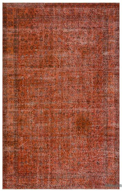 "Over-dyed Turkish Vintage Rug - 6'9"" x 10'7"" (81 in. x 127 in.)"