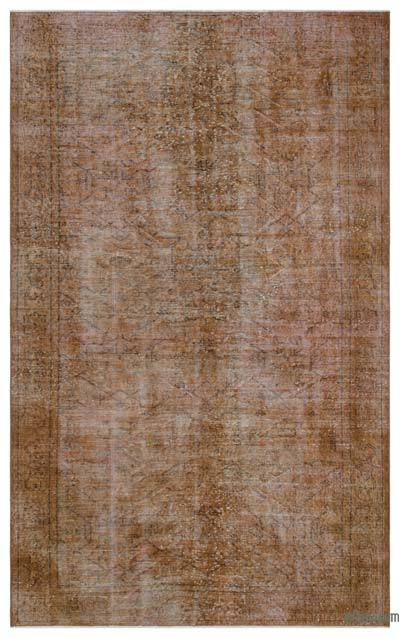 "Over-dyed Turkish Vintage Rug - 5'4"" x 8'10"" (64 in. x 106 in.)"