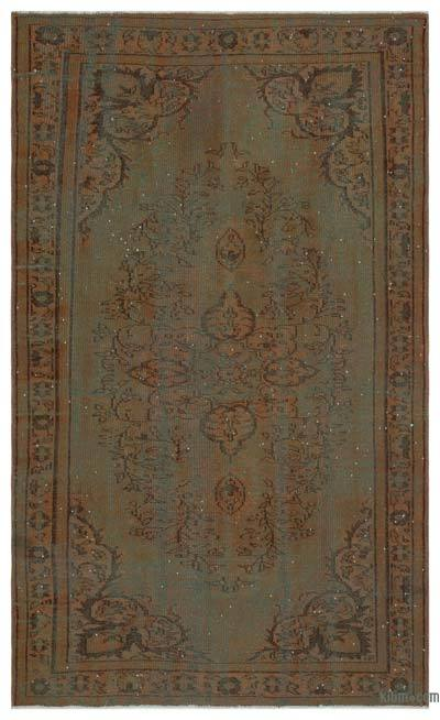 "Over-dyed Turkish Vintage Rug - 5' 4"" x 8' 10"" (64 in. x 106 in.)"