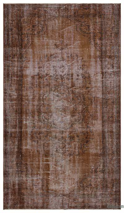 """Over-dyed Turkish Vintage Rug - 5' 2"""" x 9' 3"""" (62 in. x 111 in.)"""