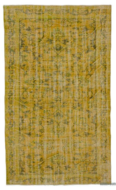 "Over-dyed Turkish Vintage Rug - 4'8"" x 7'9"" (56 in. x 93 in.)"
