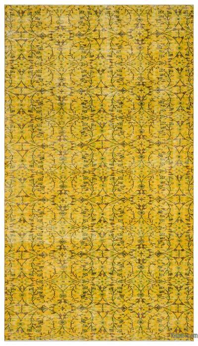 Boyalı El Dokuma Vintage Halı - 188 cm x 335 cm