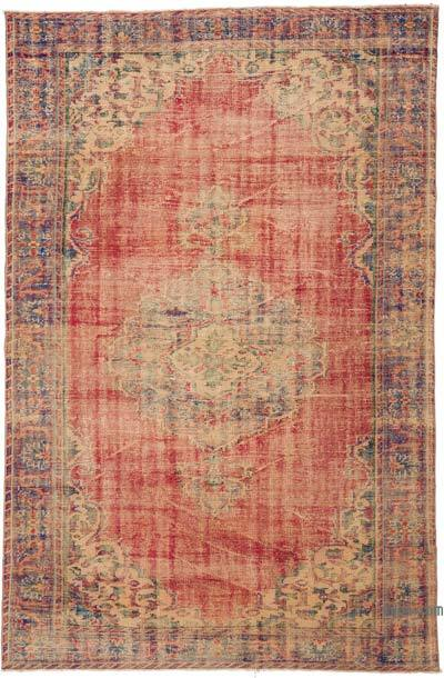 """Turkish Vintage Area Rug - 5' 10"""" x 8' 10"""" (70 in. x 106 in.)"""