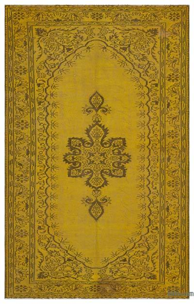 "Over-dyed Turkish Vintage Rug - 5' 9"" x 9'  (69 in. x 108 in.)"