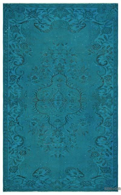 Boyalı El Dokuma Vintage Halı - 172 cm x 280 cm