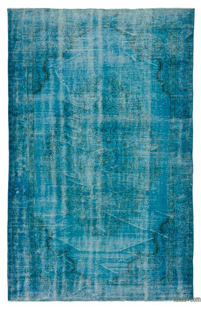 """Over-dyed Turkish Vintage Rug - 5' 10"""" x 9' 2"""" (70 in. x 110 in.)"""