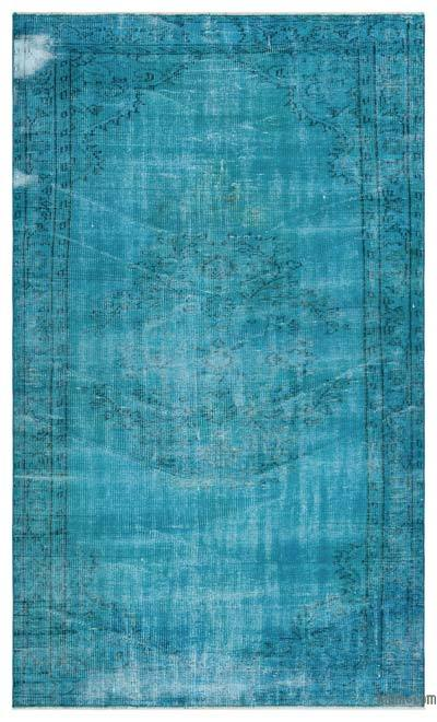 "Over-dyed Turkish Vintage Rug - 4' 10"" x 8'  (58 in. x 96 in.)"