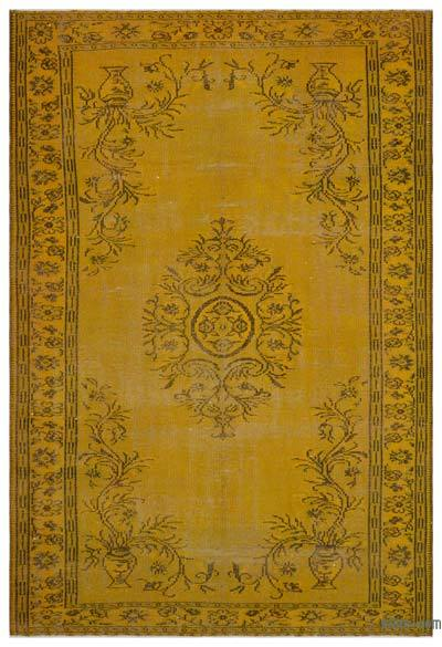 Alfombra Turca Vintage Sobre-teñida - 196 cm x 294 cm