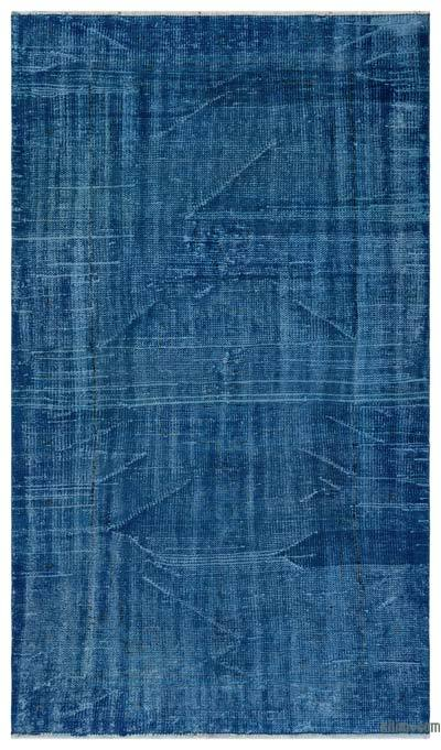"""Over-dyed Turkish Vintage Rug - 4' 5"""" x 7' 7"""" (53 in. x 91 in.)"""