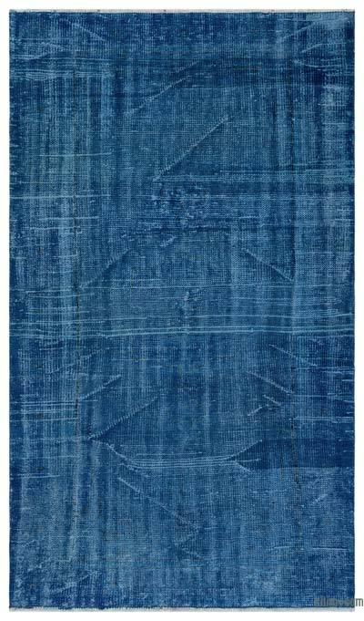 Boyalı El Dokuma Vintage Halı - 135 cm x 230 cm
