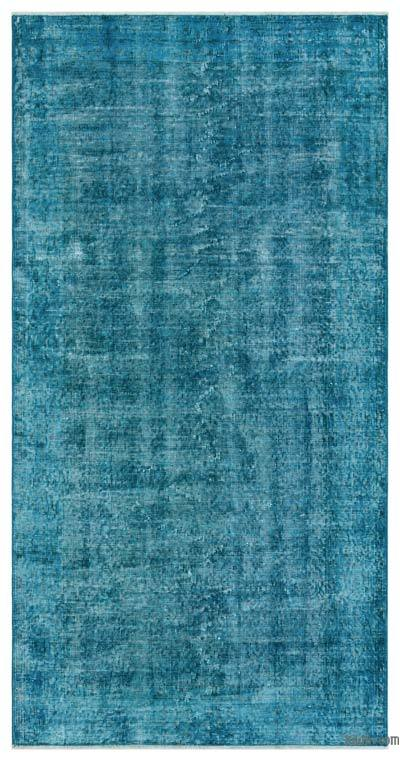 "Over-dyed Turkish Vintage Rug - 3'8"" x 7'2"" (44 in. x 86 in.)"