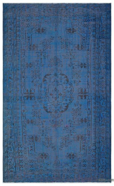 """Over-dyed Turkish Vintage Rug - 5' 6"""" x 8' 10"""" (66 in. x 106 in.)"""