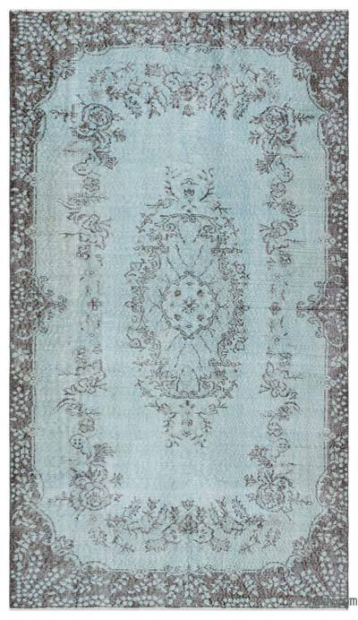 "Over-dyed Turkish Vintage Rug - 4'9"" x 8'4"" (57 in. x 100 in.)"