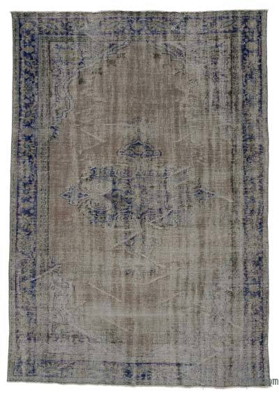 """Over-dyed Turkish Vintage Rug - 6' x 8'7"""" (72 in. x 103 in.)"""