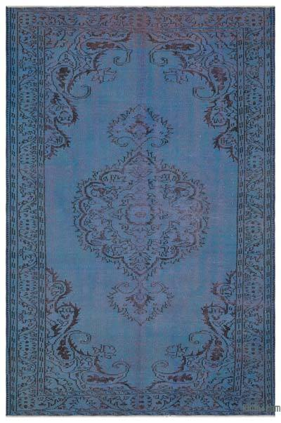 Boyalı El Dokuma Vintage Halı - 188 cm x 285 cm