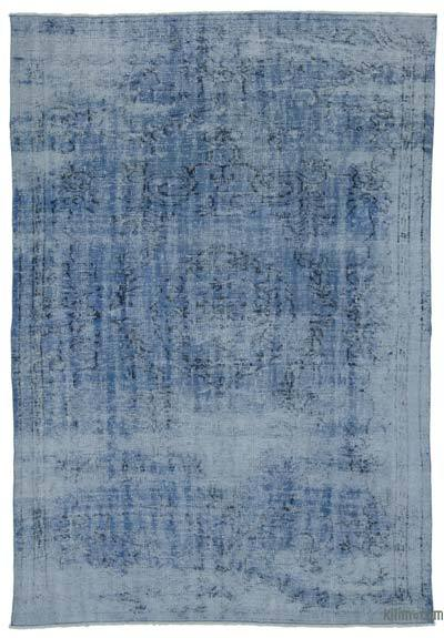 """Over-dyed Turkish Vintage Rug - 6'1"""" x 8'10"""" (73 in. x 106 in.)"""