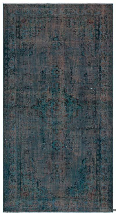 """Over-dyed Turkish Vintage Rug - 5' 1"""" x 8' 10"""" (61 in. x 106 in.)"""