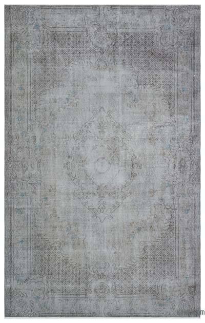 Boyalı El Dokuma Vintage Halı - 180 cm x 287 cm