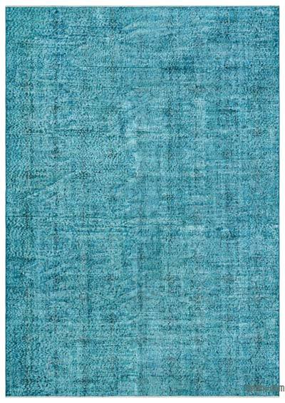 "Over-dyed Turkish Vintage Rug - 6' 9"" x 9' 6"" (81 in. x 114 in.)"
