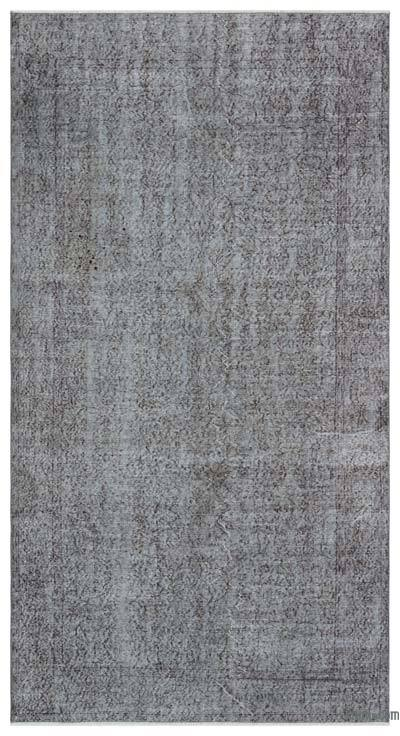 """Over-dyed Turkish Vintage Rug - 4' 9"""" x 9'  (57 in. x 108 in.)"""
