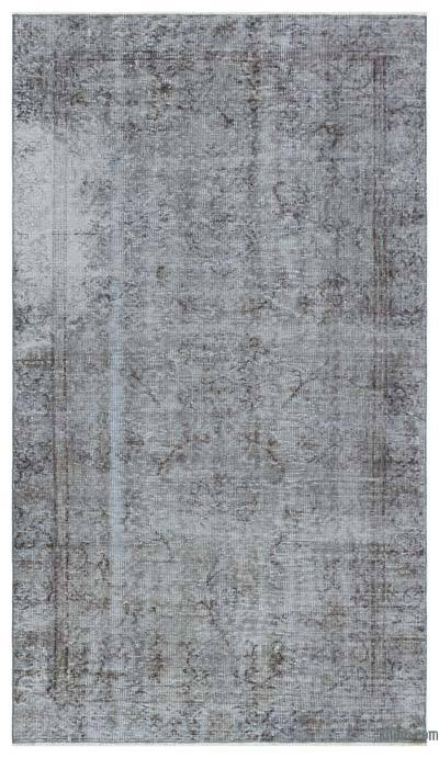"""Over-dyed Turkish Vintage Rug - 4'6"""" x 8' (54 in. x 96 in.)"""