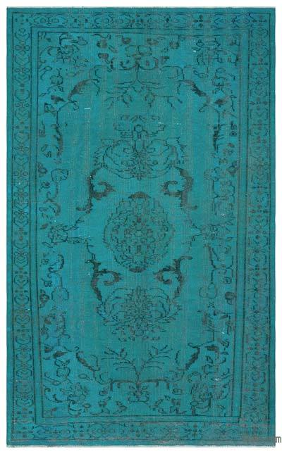 "Over-dyed Turkish Vintage Rug - 5'5"" x 8'10"" (65 in. x 106 in.)"