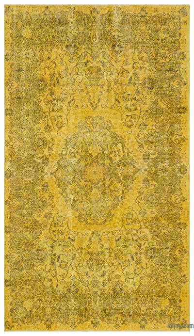 "Over-dyed Turkish Vintage Rug - 5' 9"" x 10' 1"" (69 in. x 121 in.)"